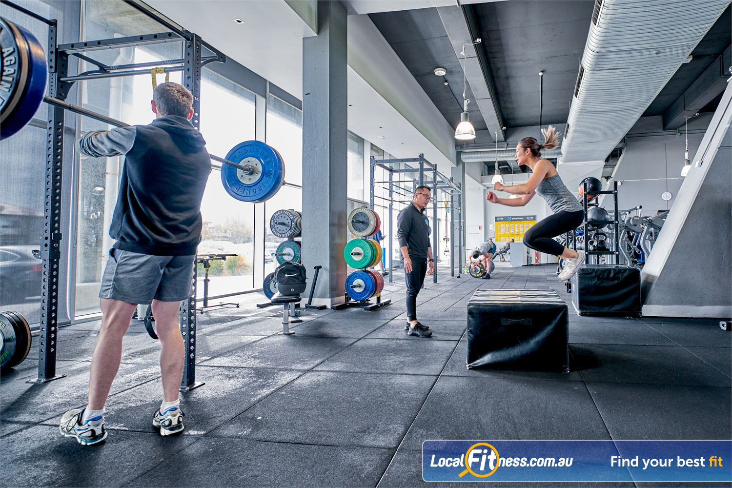 Goodlife Health Clubs Waverley Park Mulgrave Strength Matrix perfect for squats, deadlifts, bench pressing and more.