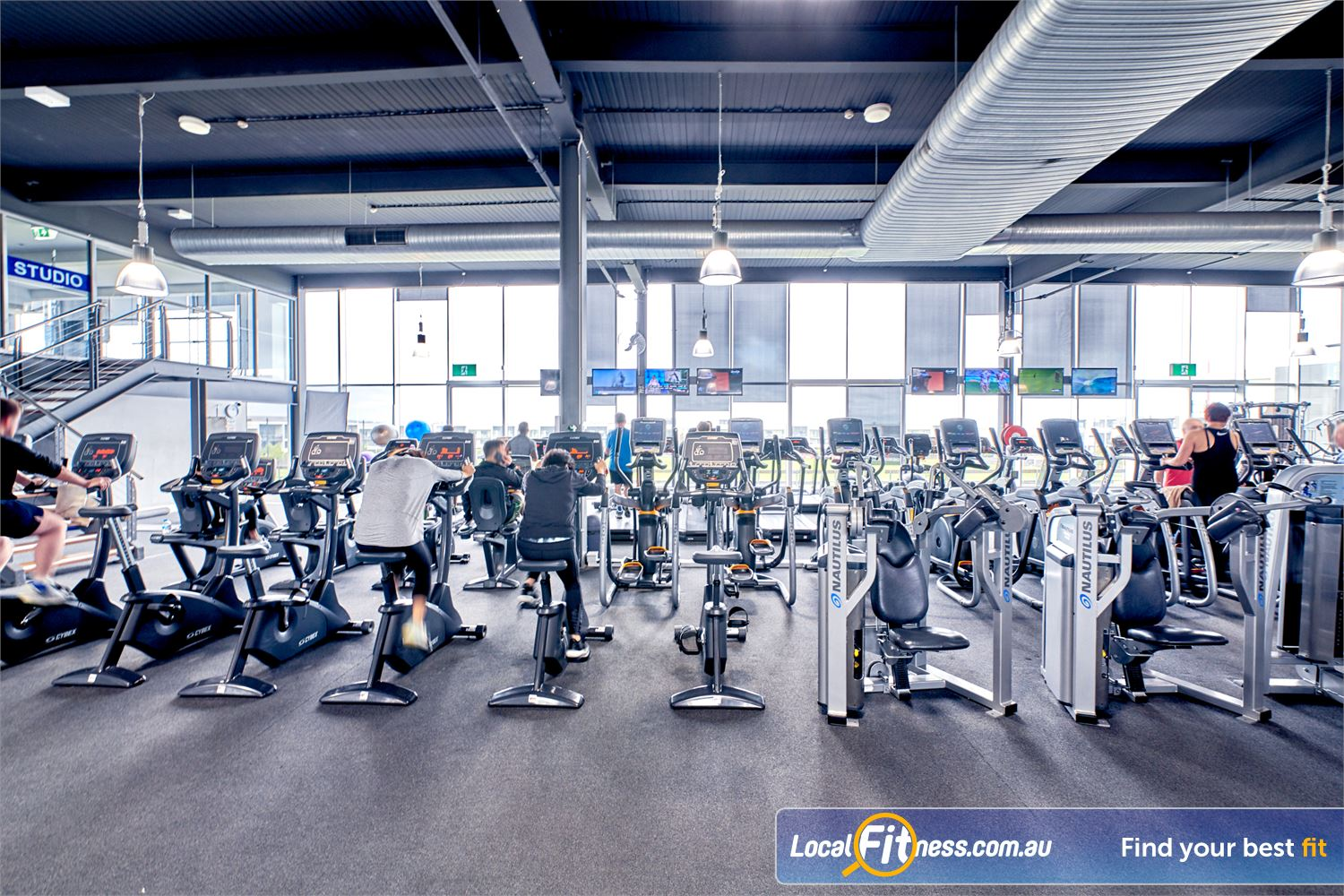 Goodlife Health Clubs Waverley Park Mulgrave Full range of cardio machines inc. treadmills, cycle bikes, cross-trainers and more.