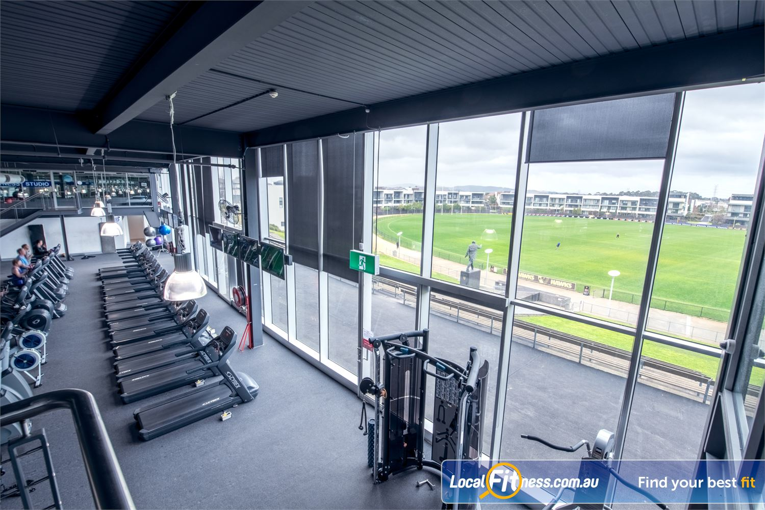 Goodlife Health Clubs Waverley Park Near Springvale Among the best views from a cardio area in Melbourne.