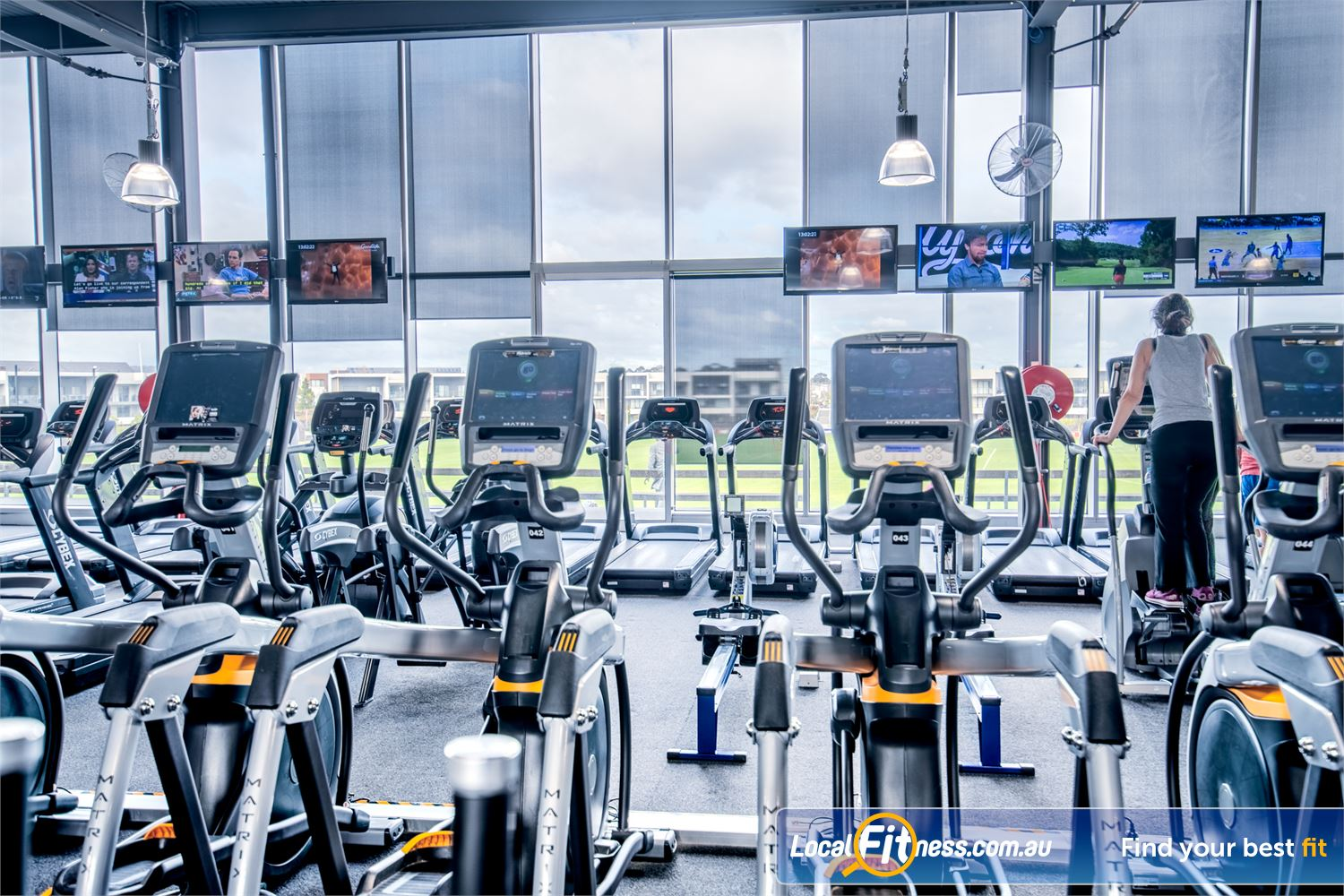 Goodlife Health Clubs Waverley Park Near Noble Park State of the art Ascent trainers from MATRIX Fitness.