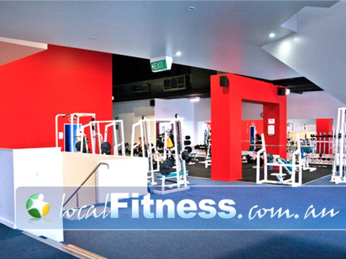 Re-Creation Health Clubs Brighton East A extensive range of strength training equipment.