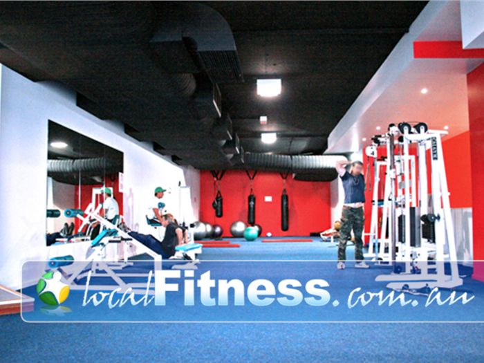 Re-Creation Health Clubs Brighton East Sweeping views from Level 2 of our Brighton East gym floor.