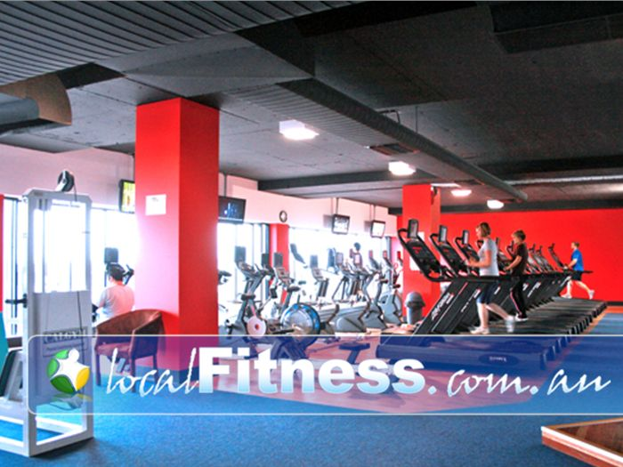 Re-Creation Health Clubs Gym Cheltenham  | The spacious cardio area in Brighton East.