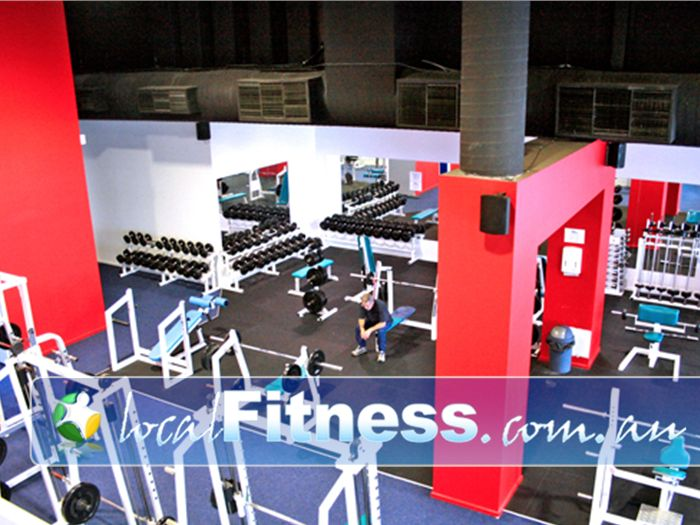 Re-Creation Health Clubs Brighton East The Brighton East free-weights area has plenty of space.