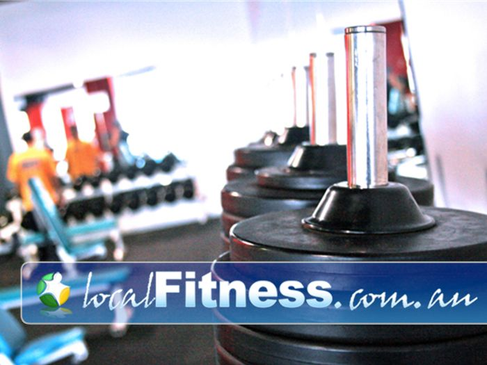 Re-Creation Health Clubs Brighton East Full range of dumbbells, barbells and benches.
