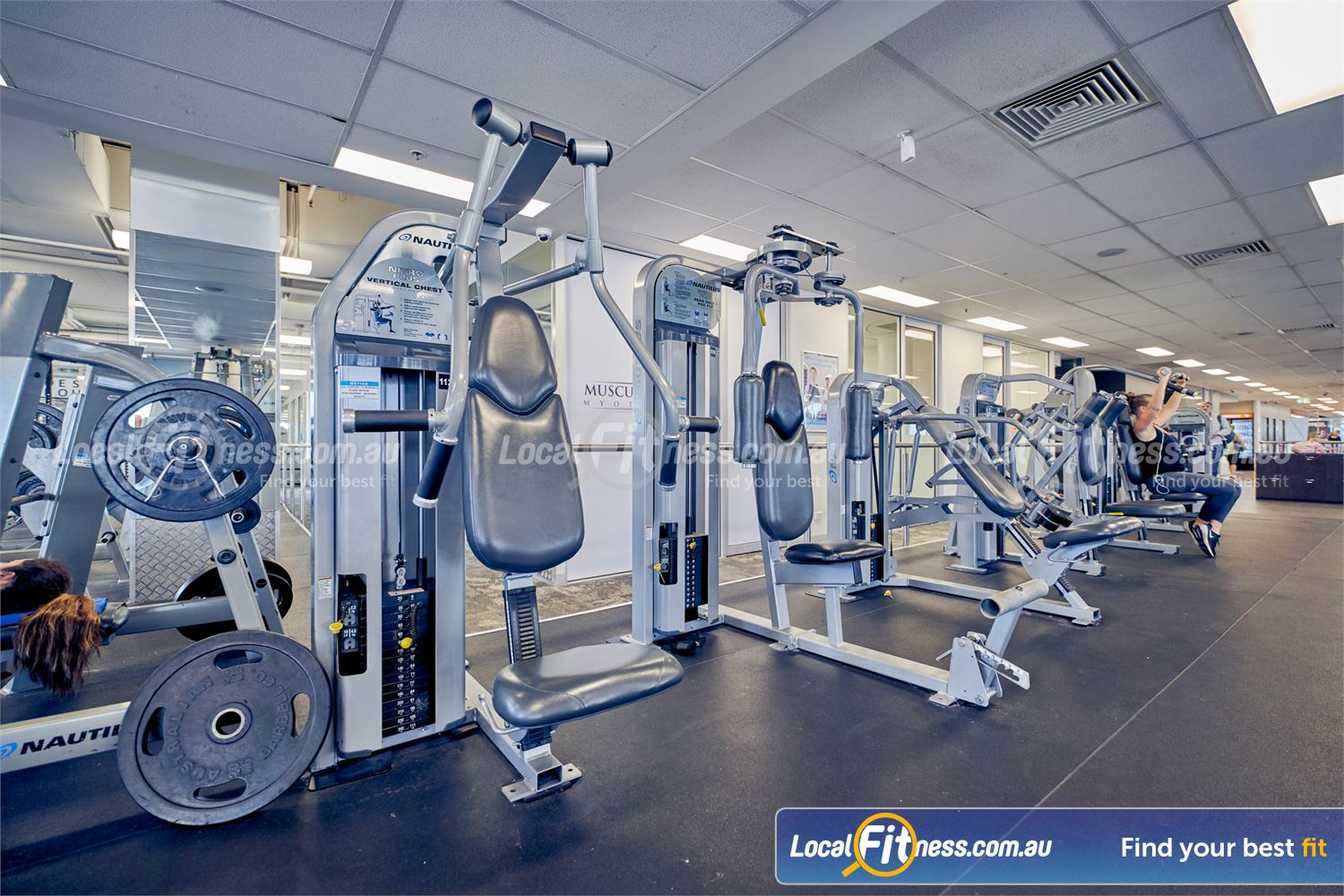 Goodlife Health Clubs Camberwell Our Camberwell gym includes state of the art pin-loading machine.