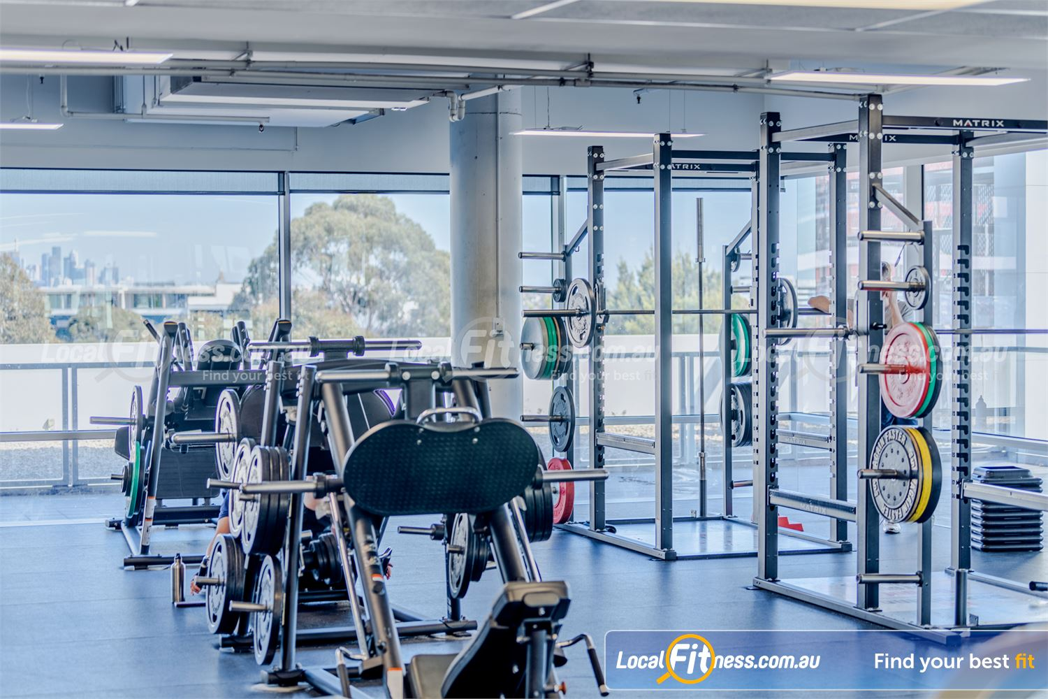 Goodlife Health Clubs Near Ashburton Full range of plate-loading machines including the leg press and hack squat.