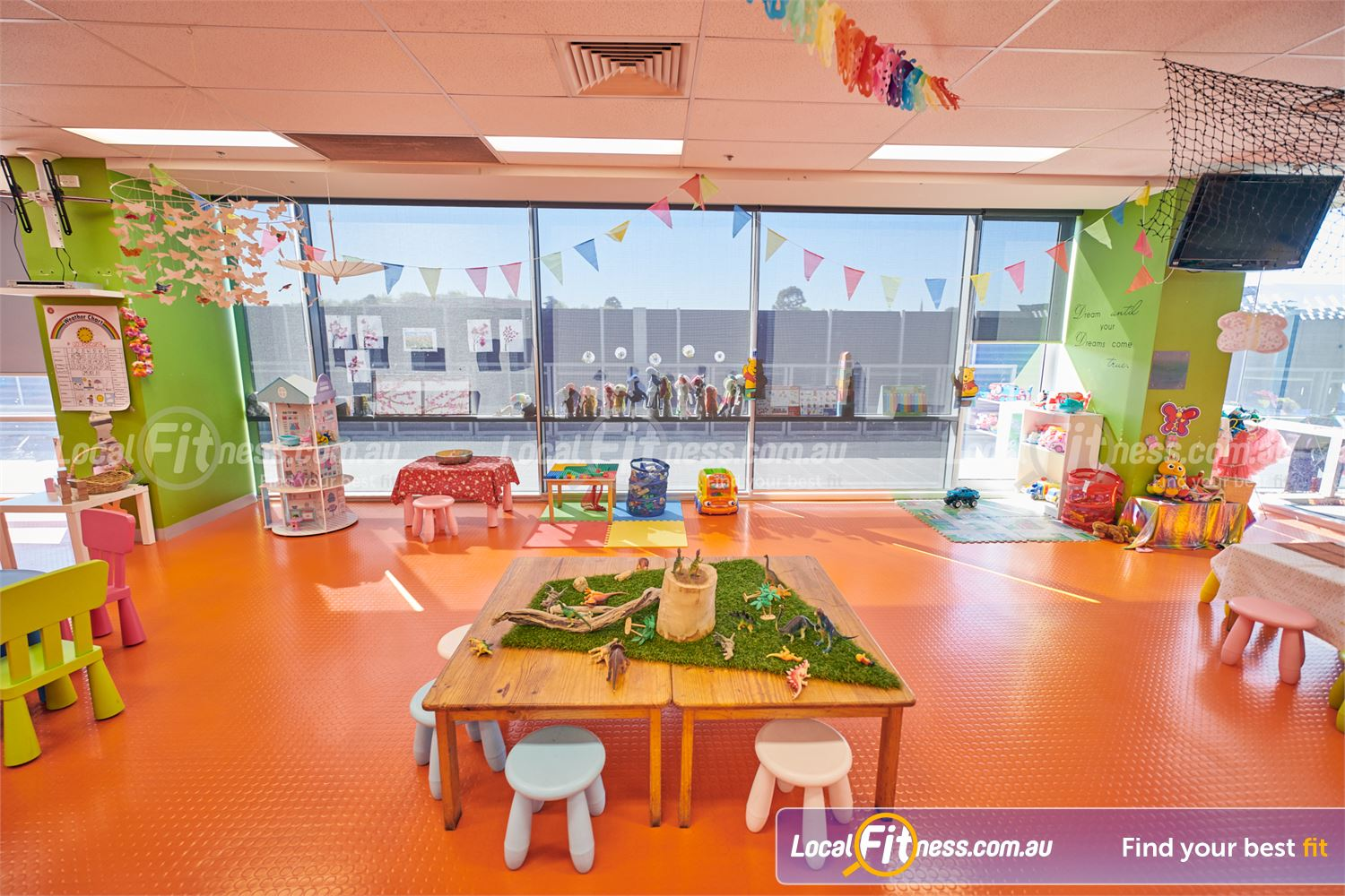 Goodlife Health Clubs Camberwell Goodlife provides on-site Camberwell child minding services.