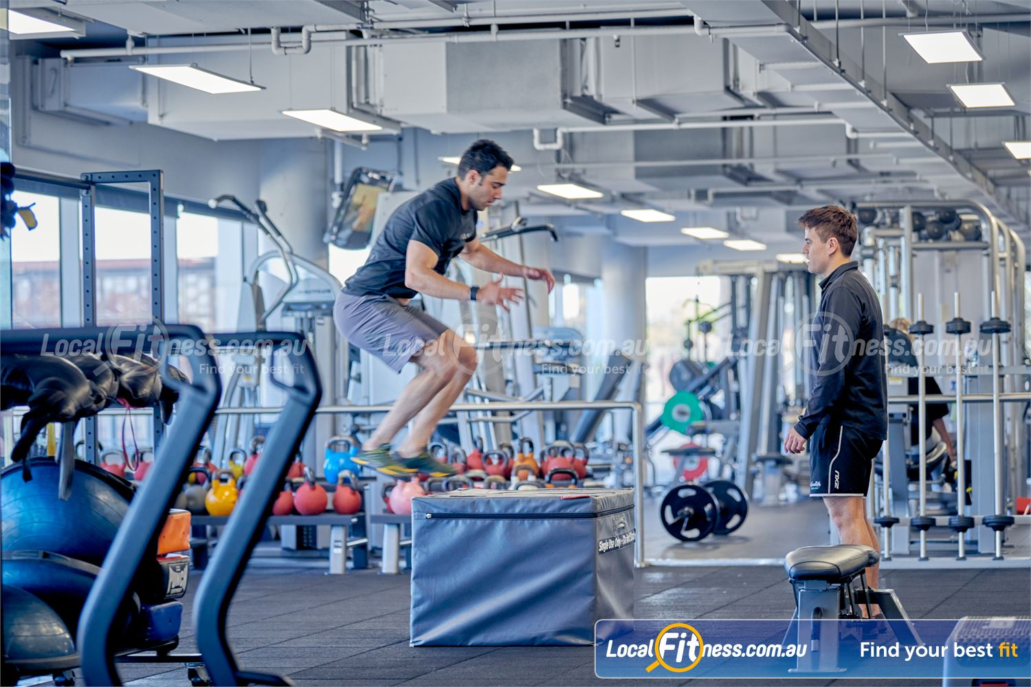 Goodlife Health Clubs Camberwell Our Camberwell personal trainers can bring out the athlete in you with box jumps.