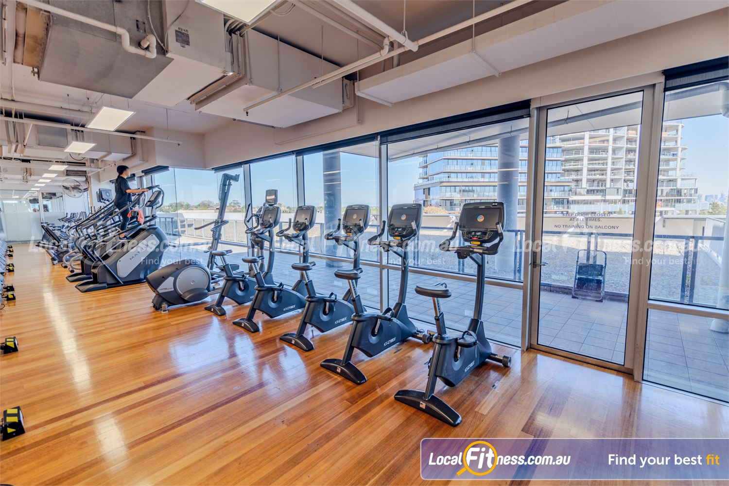 Goodlife Health Clubs Camberwell Melbourne city skyline views from our Camberwell cardio area.