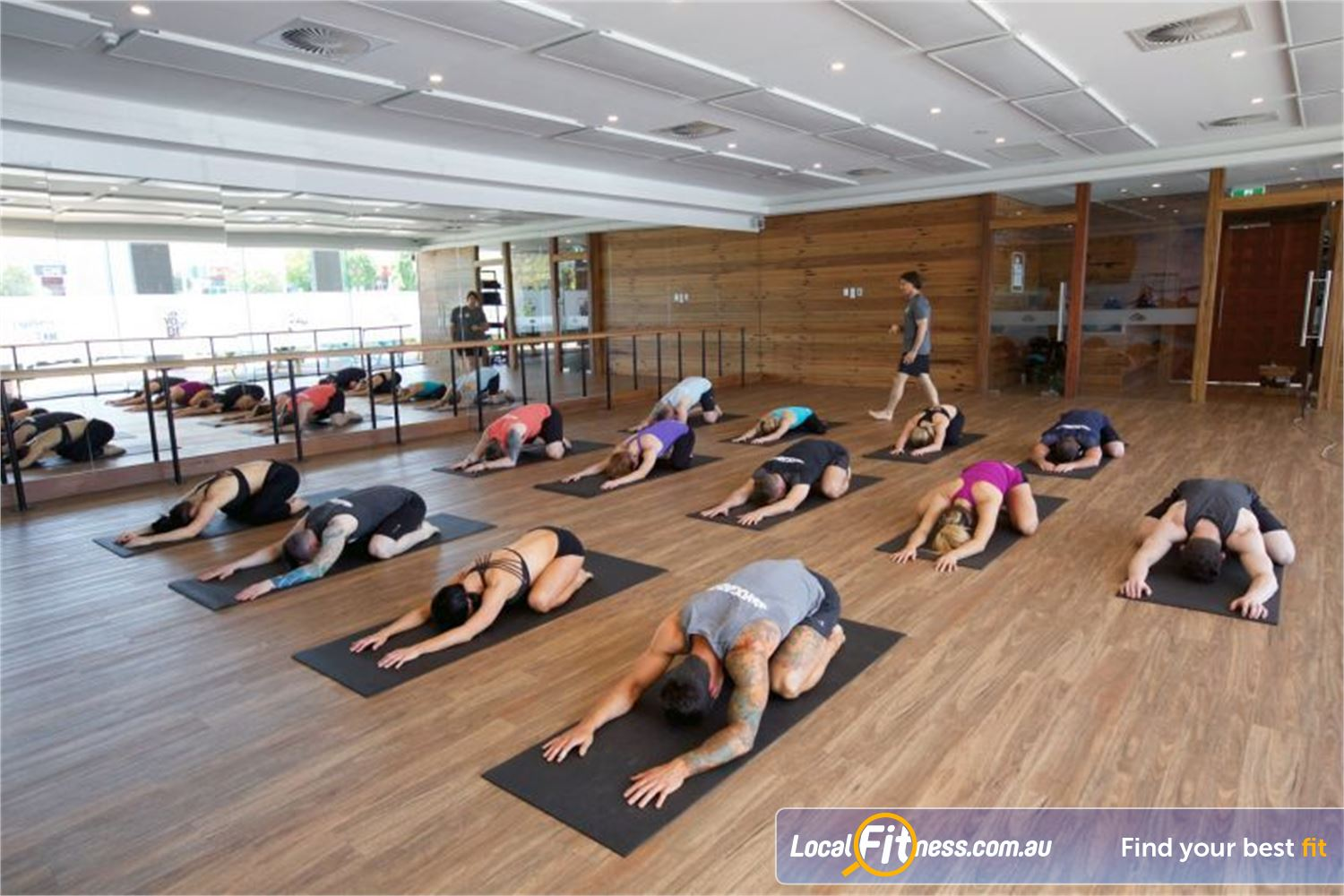 Goodlife Health Clubs Carindale Our Yogabox studio provides Carindale Yoga, Pilates and Barre classes.