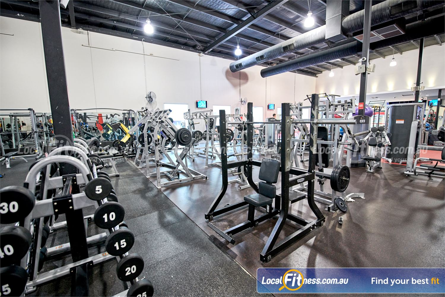Fitness First Near Notting Hill Full range of plate-loading machines from Hammer Strength and Technogym.