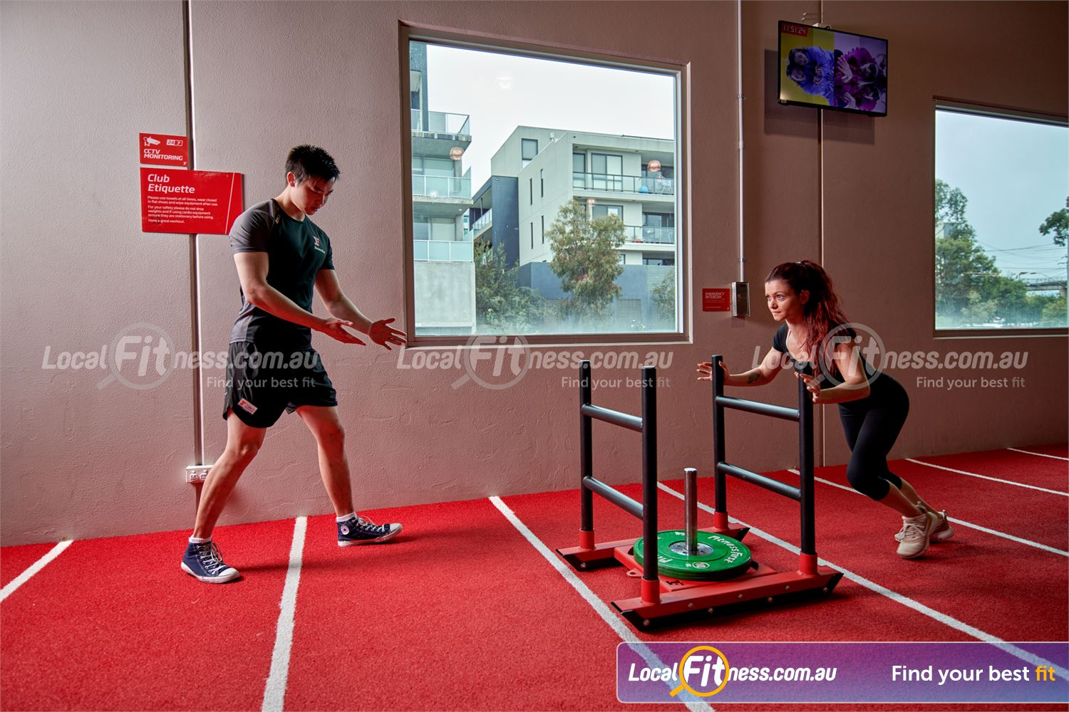 Fitness First Near Wheelers Hill Prowler sled training is a great way to condition your body.