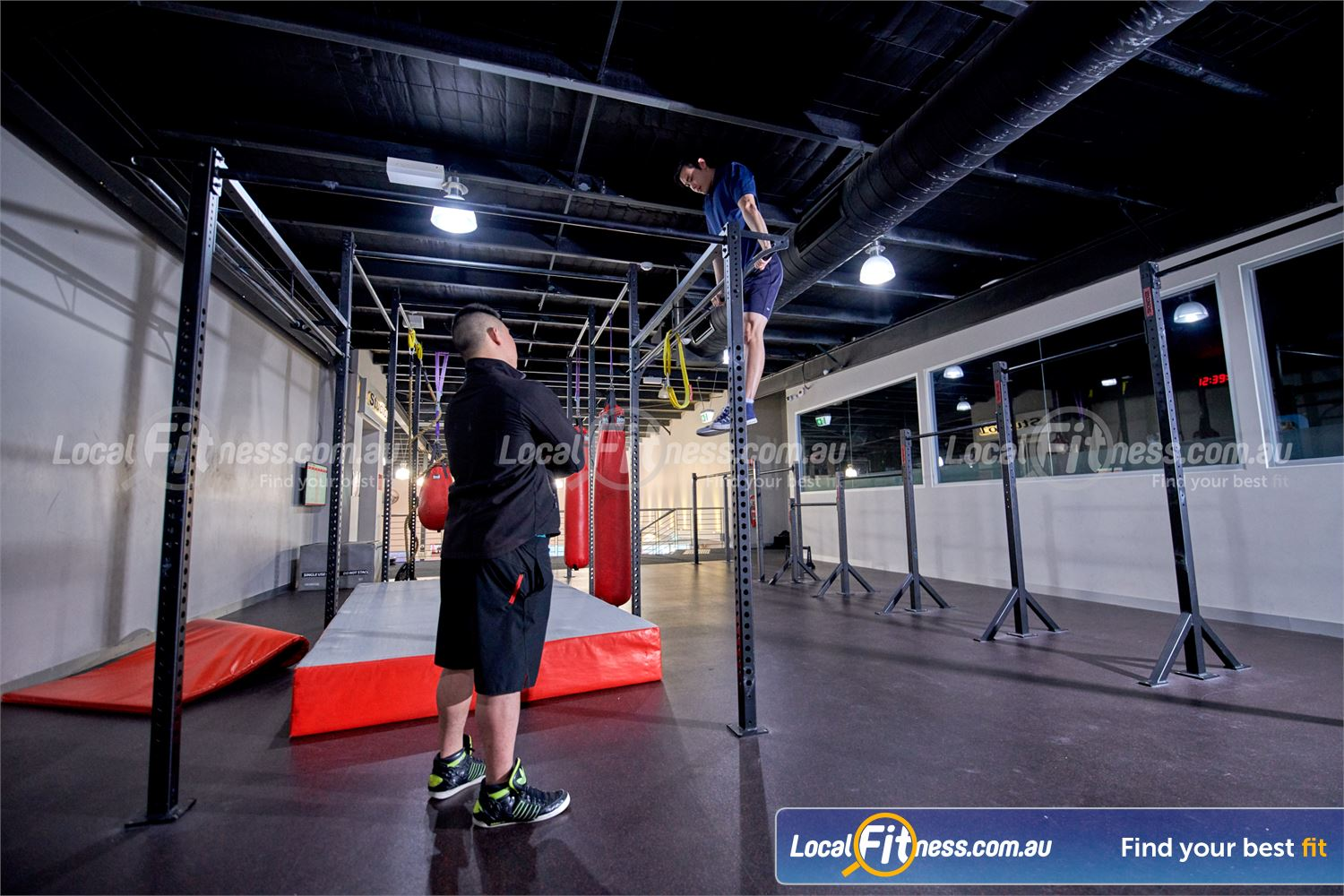 Fitness First Glen Waverley Perform the art of muscle ups in our Callisthenics training area.