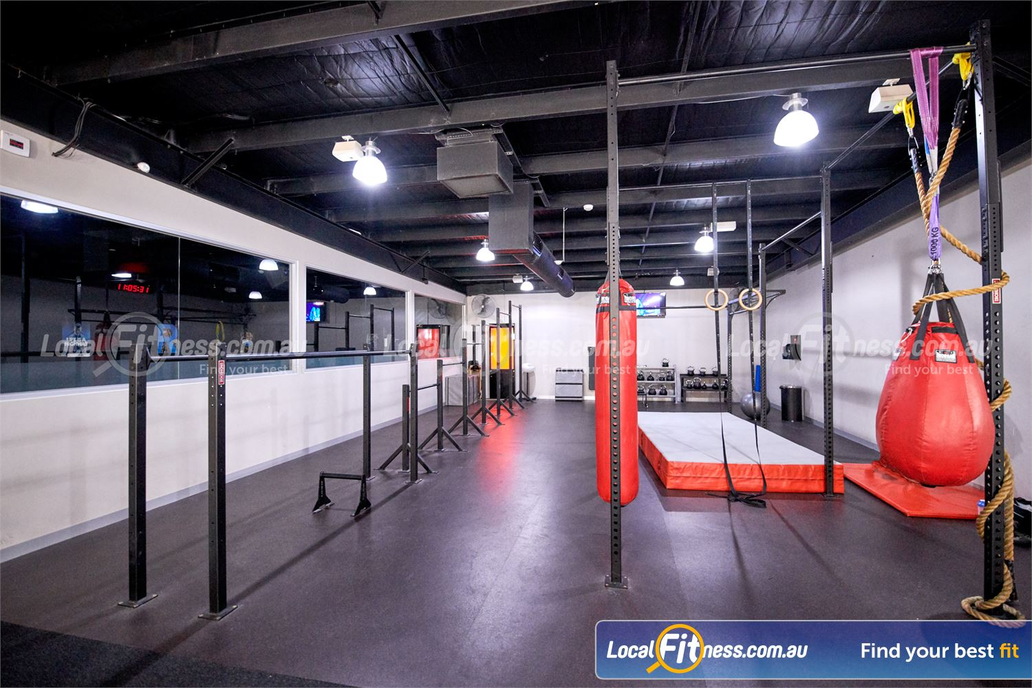 Fitness First Near Wheelers Hill Hang, dip, press, planche, muscle-up on our gymnastic matrix strength area.