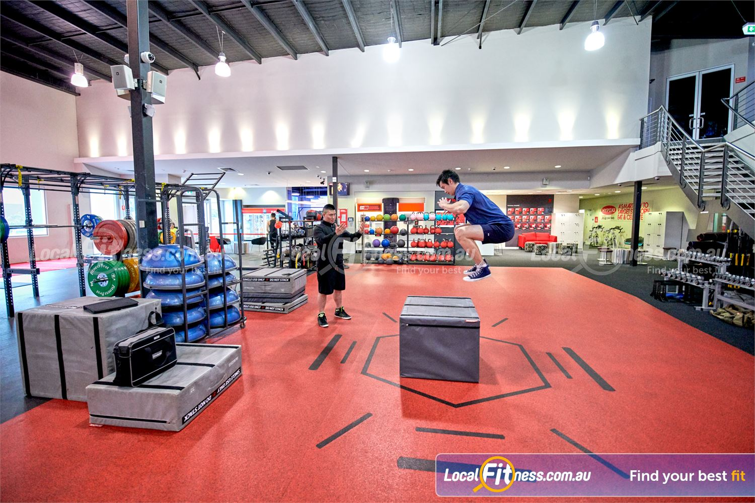 Fitness First Near Wheelers Hill Try some plyometric box jumps in our freestyle area.