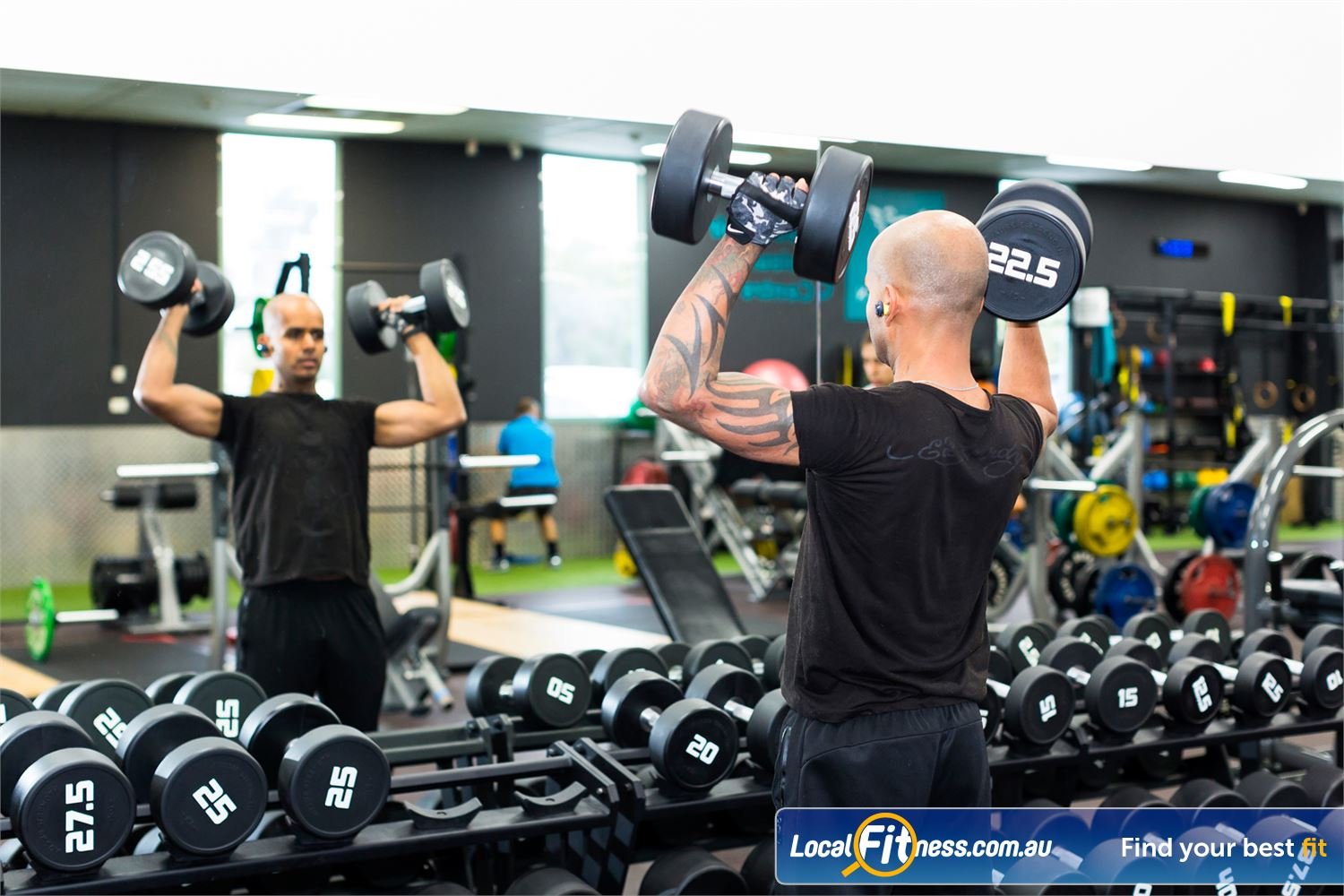 Reservoir Leisure Centre Near Thomastown Plenty of free-weights for your training needs.