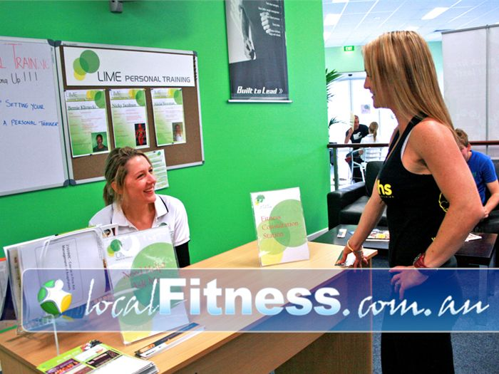 Lime Health & Fitness Near Skye Talk with our trainer at our fitness consultation station.