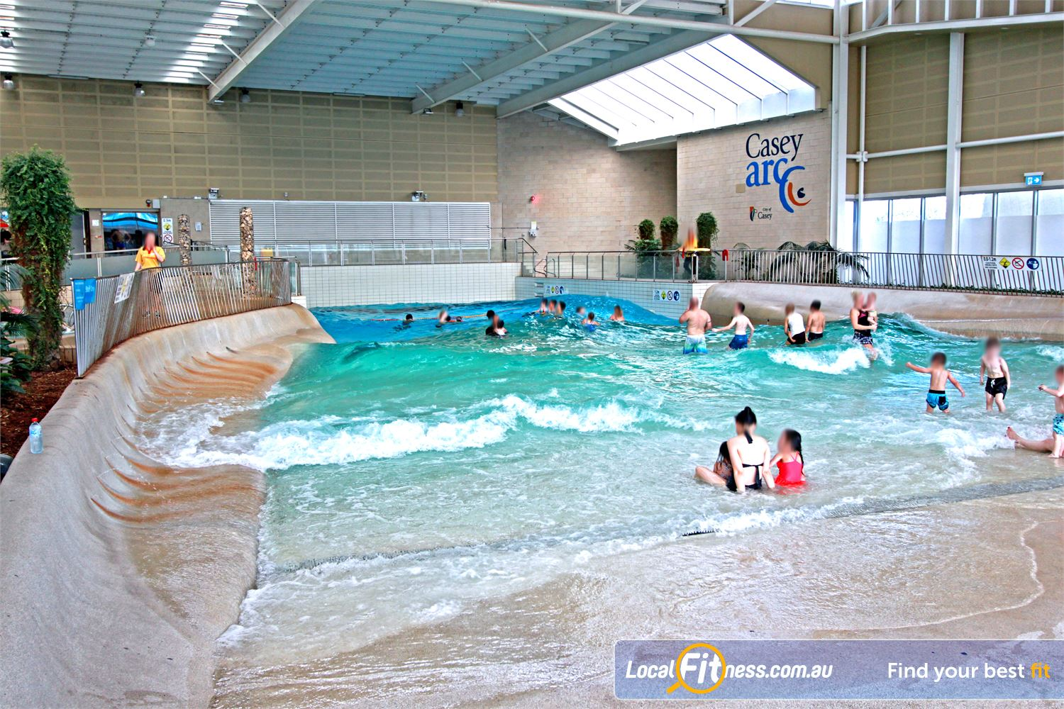 Casey Arc Narre Warren The star attraction at Casey ARC - The popular Wave pool.
