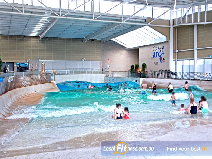 Casey Arc Gym Belgrave  | The star attraction: The Wave pool with beach