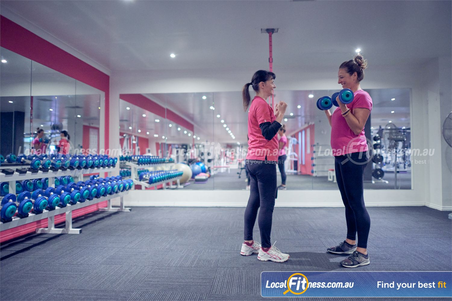 Fernwood Fitness Near Templestowe Lower Our Bulleen personal trainers can take you through a womens strength workout.