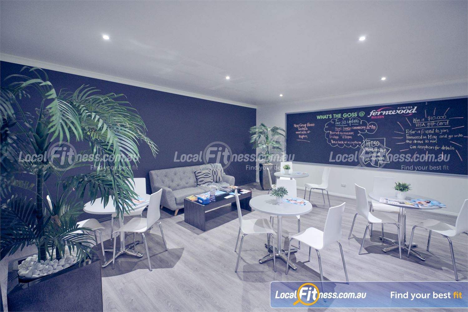 Fernwood Fitness Near Doncaster Women to have their own special space in our member's lounge.