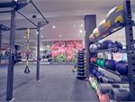 Our functional area includes kettlebells, TRX, wall balls