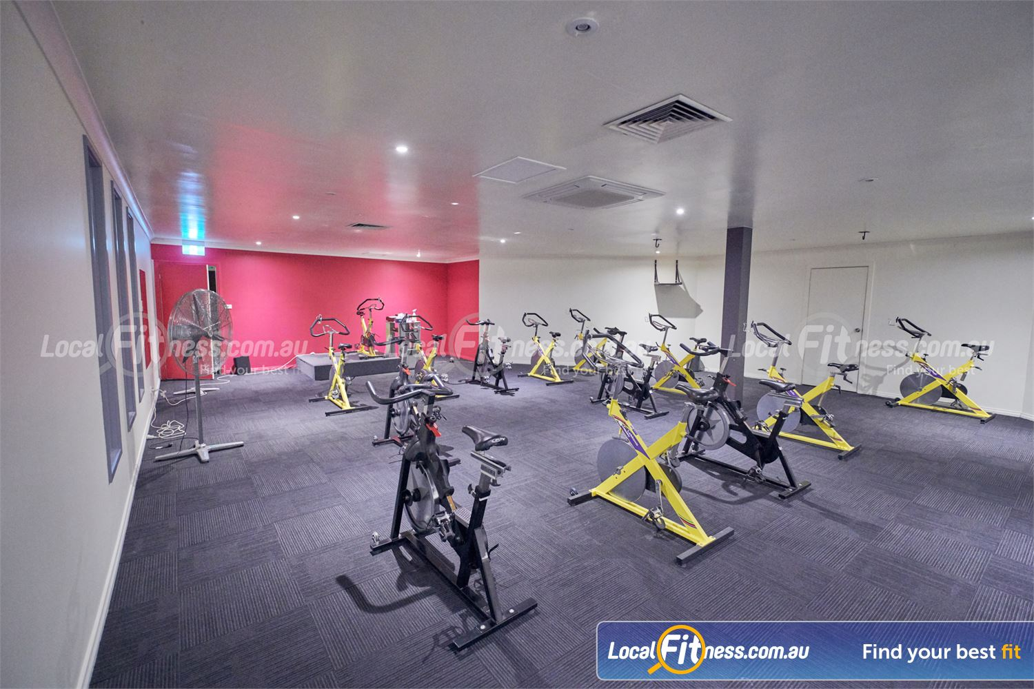 Fernwood Fitness Near Templestowe Lower The Bulleen spin cycle studio with state of the art cycle bikes.