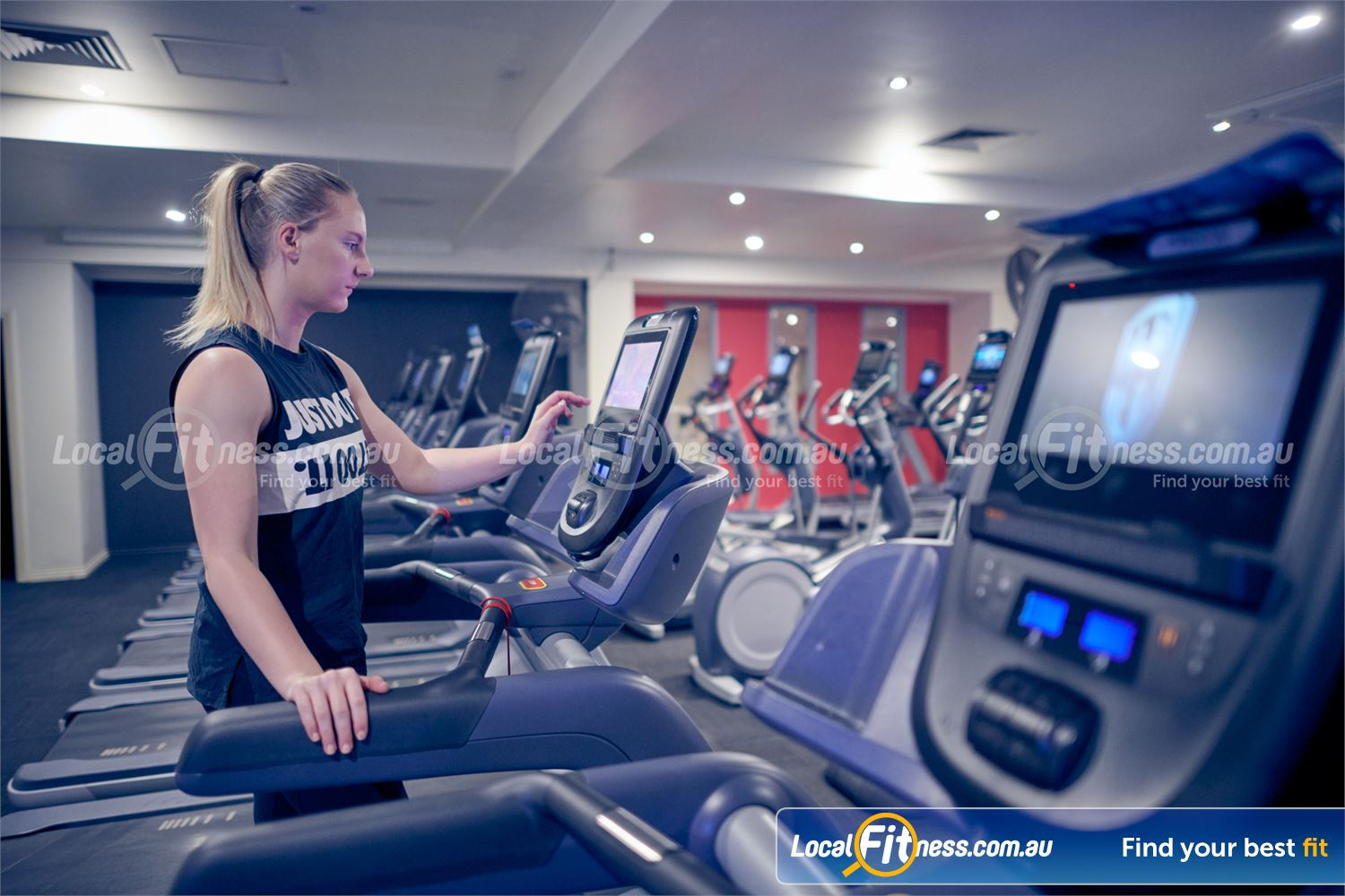 Fernwood Fitness Bulleen Our state of the art cardio machines include personal entertainment screens.