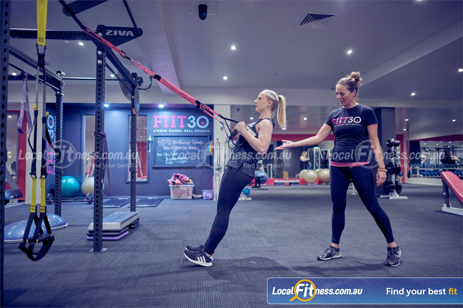 Fernwood Fitness Near Templestowe Lower Our Bulleen gym team can take you through a TRX functional training workout.