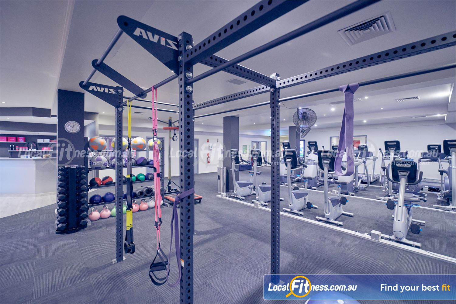 Fernwood Fitness Bulleen The dedicated functional training and Bulleen HIIT gym space.