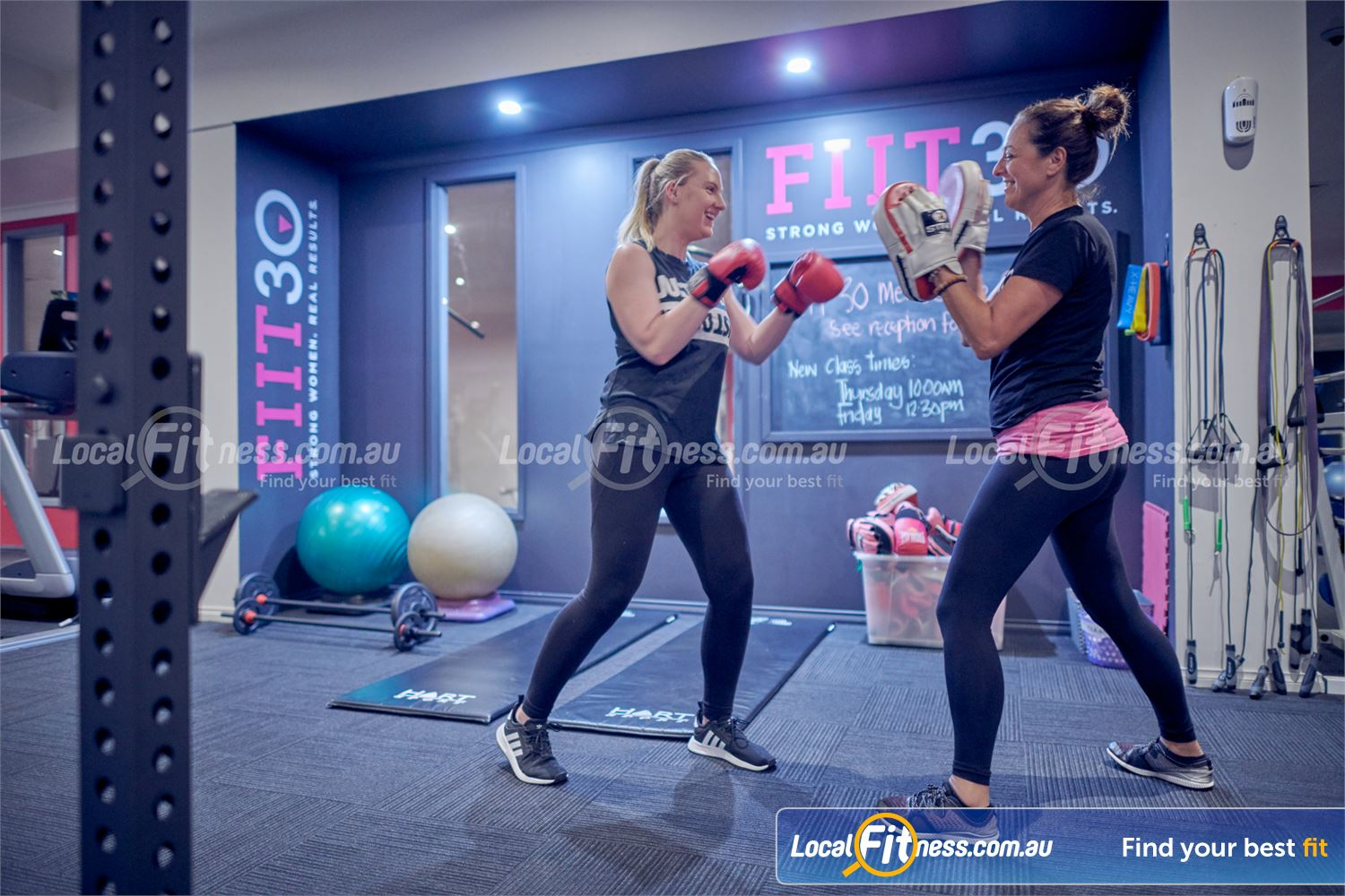 Fernwood Fitness Bulleen Challenge your fitness with a womens boxing workout in Bulleen.