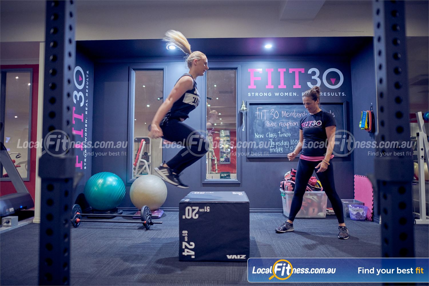 Fernwood Fitness Near Doncaster Get a functional plyometric workout with box jumps.