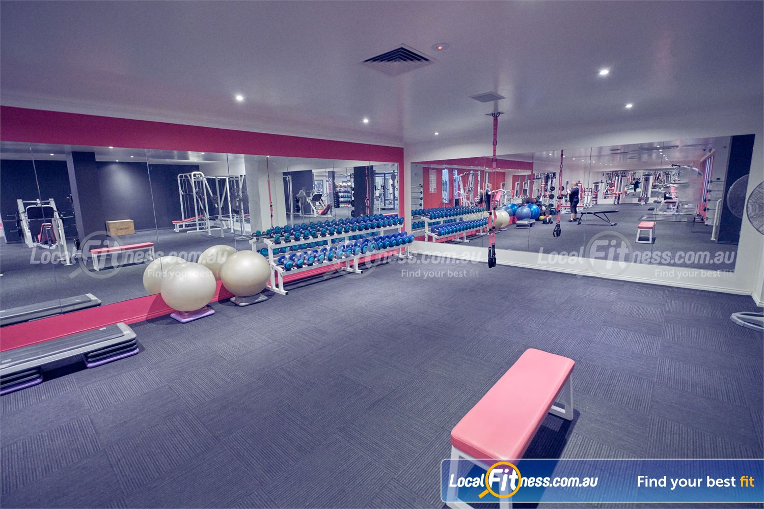 Fernwood Fitness Bulleen Our womens Bulleen gym includes a full range of free-weights.