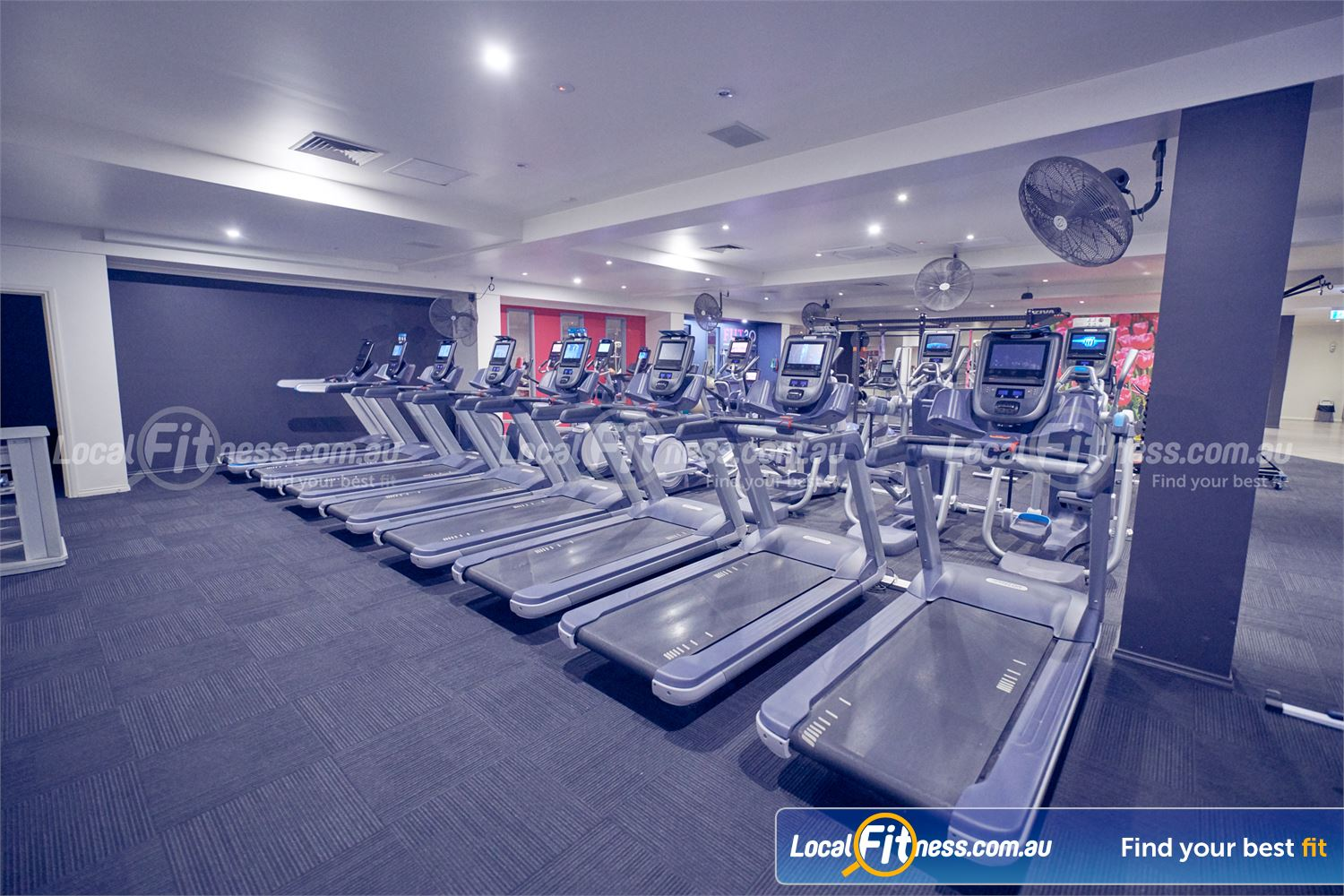 Fernwood Fitness Bulleen The state of the art cardio area in our Bulleen gym.