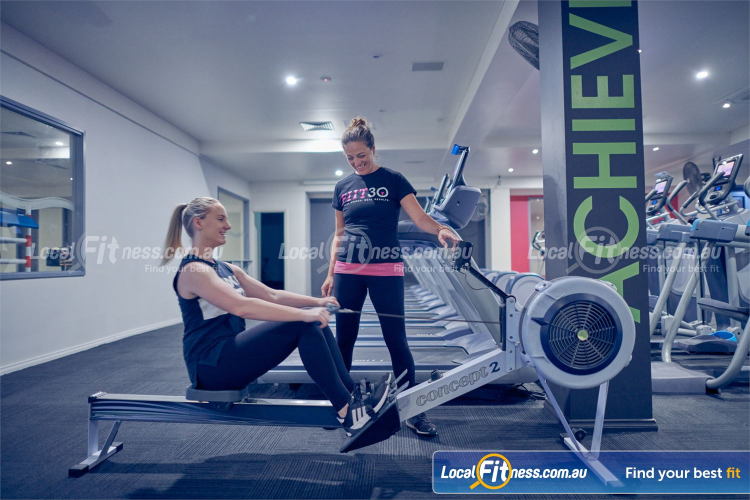 Fernwood Fitness Near Doncaster Get a HIIT cardio workout with indoor rowing.