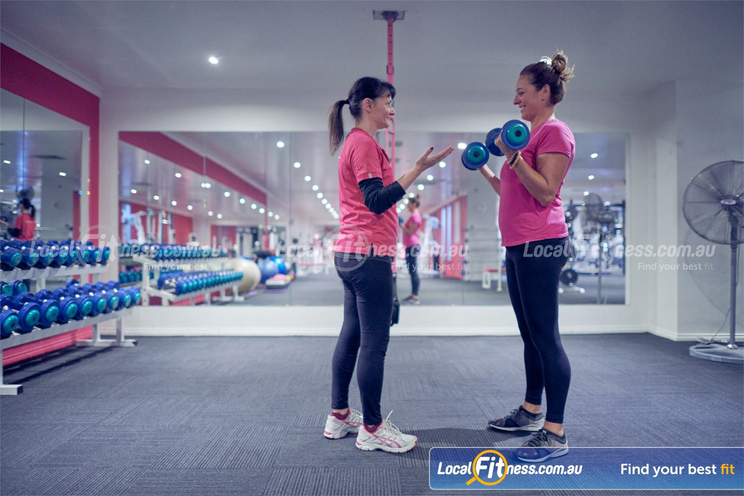 Fernwood Fitness Bulleen Our Bulleen gym team can take you through a free-weight strength workout.