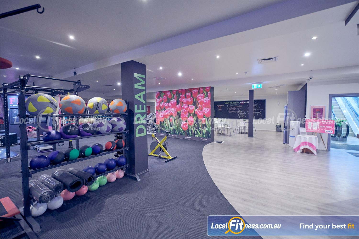 Fernwood Fitness Near Templestowe Lower Our functional training area includes kettlebells, wall balls, TRX and more.