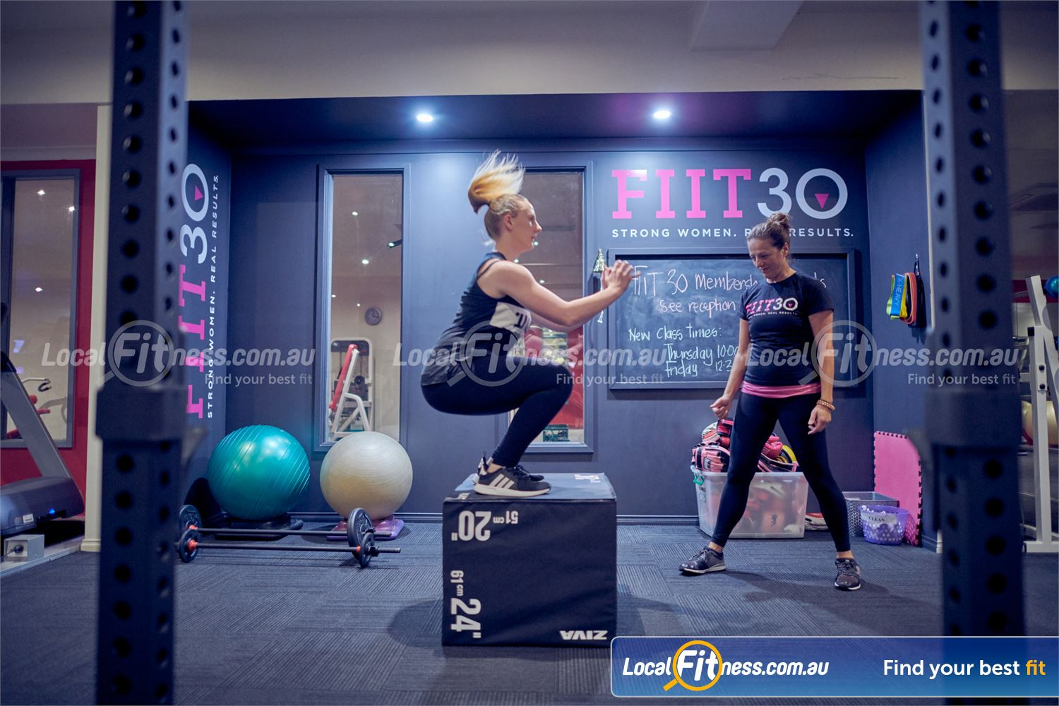 Fernwood Fitness Bulleen Test your ployometric ability with the box jump.