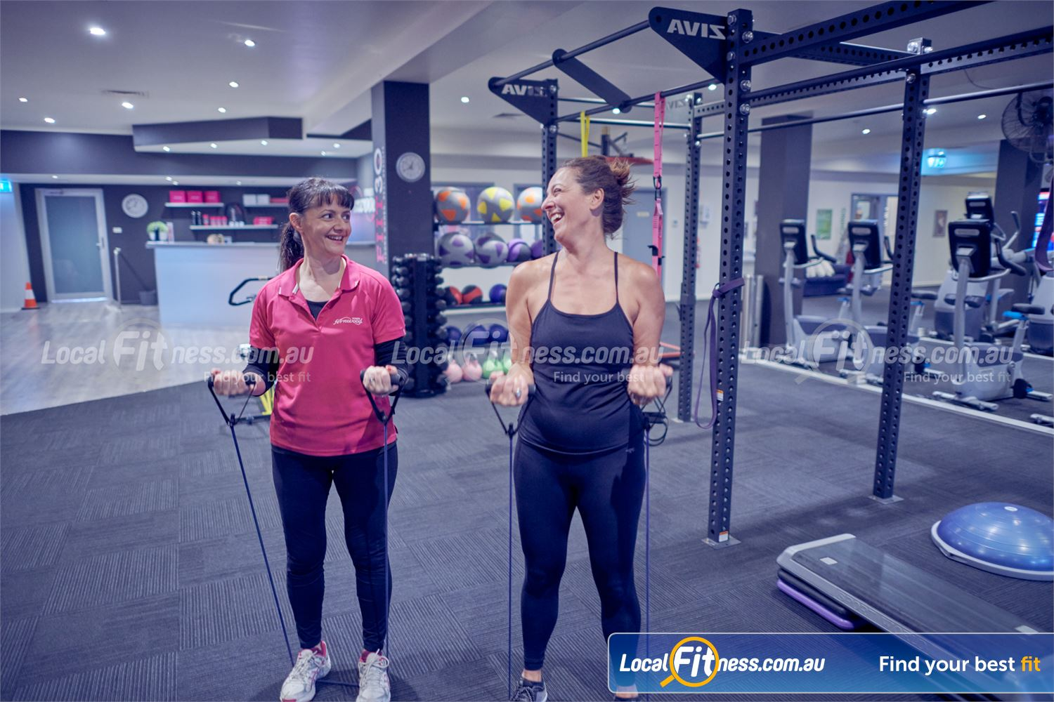 Fernwood Fitness Near Doncaster Our Bulleen gym includes state of the art strength training including band training.