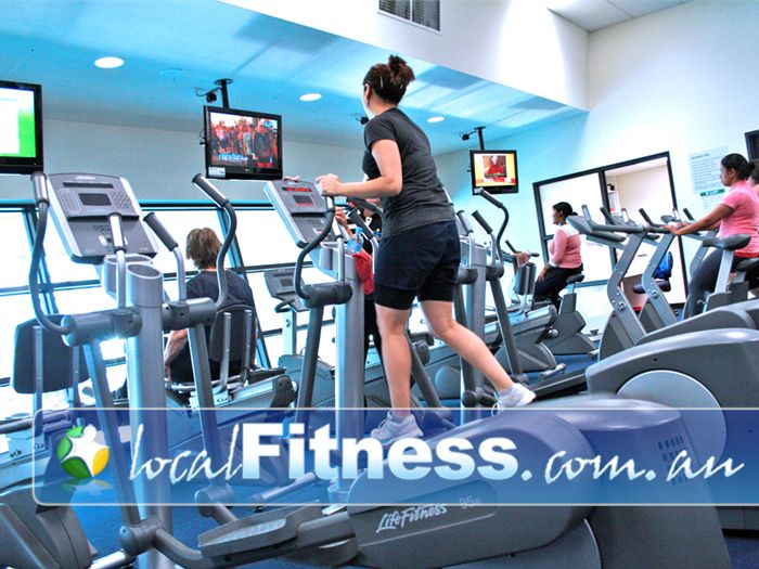 Clayton Aquatics & Health Club Clayton Tune into your favorite shows while you workout.
