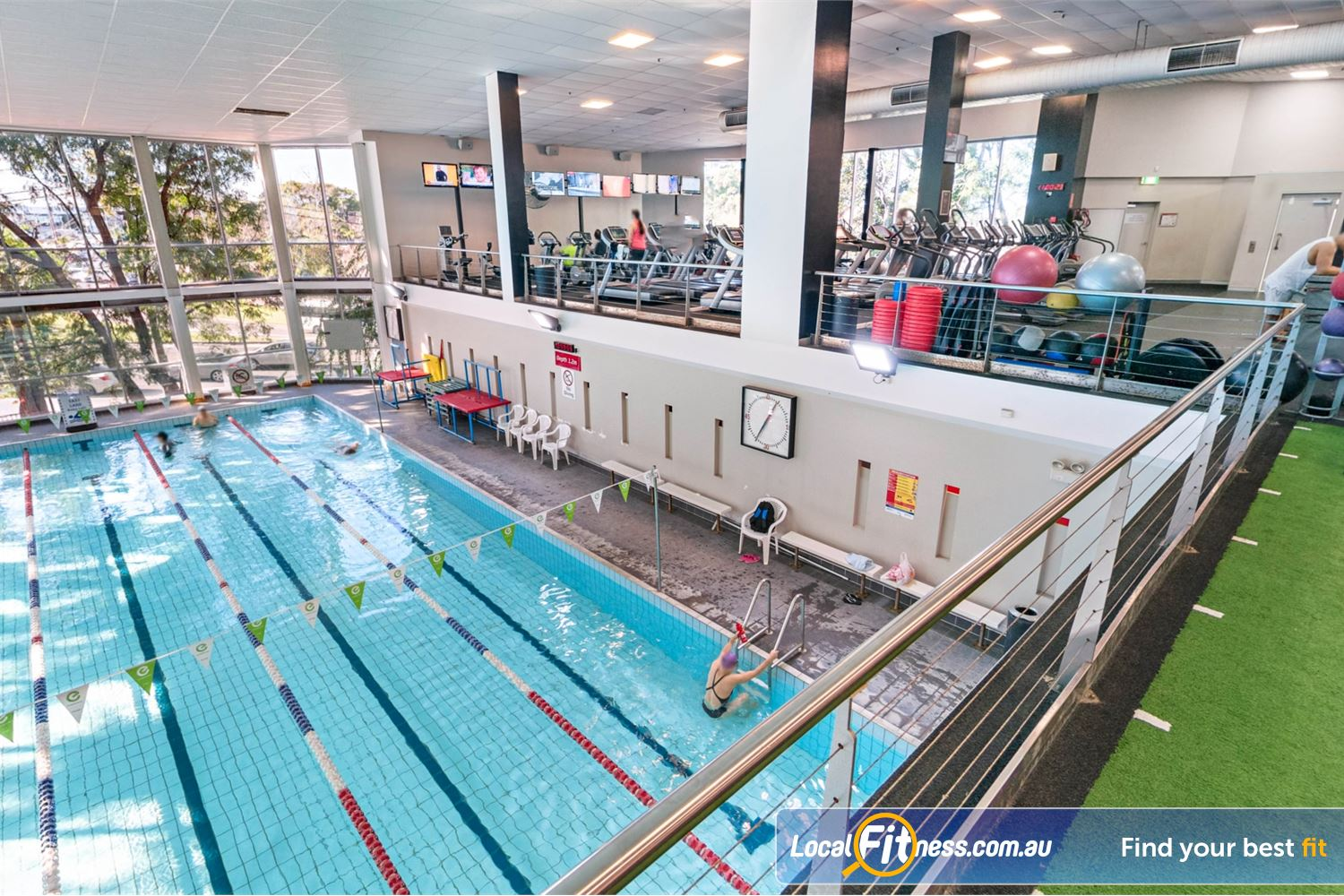 Fitness First Sylvania Our gym includes an indoor Sylvania swimming pool.