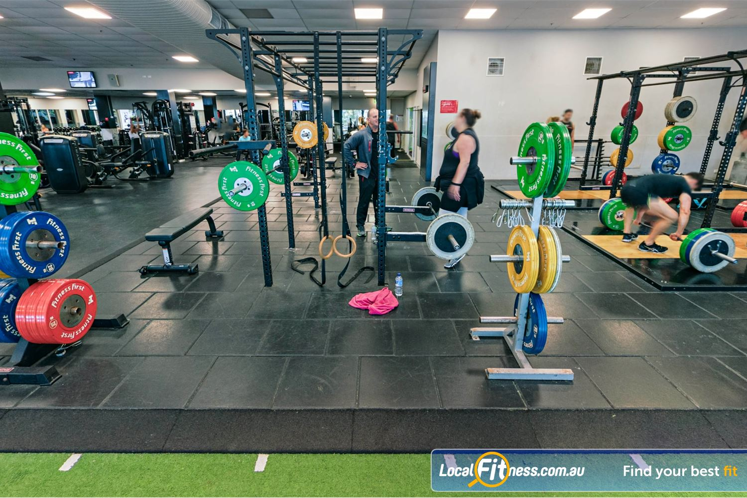Fitness First Near Oyster Bay Our strength matrix and Olympic lifting platforms are perfect for deadlifting and squats.