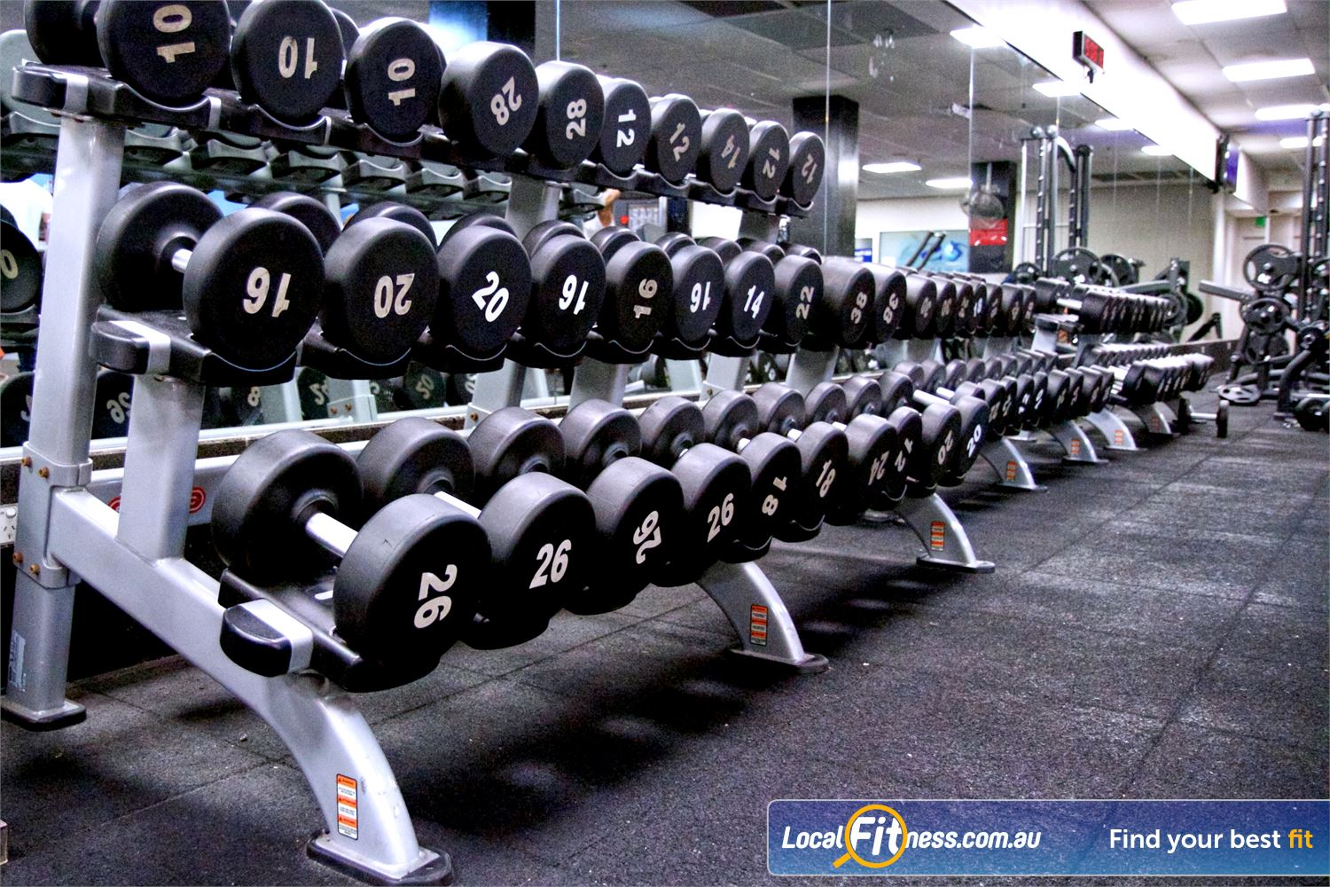 Fitness First Sylvania Our Sylvania gym provides a full range of dumbbells for all levels of fitness.