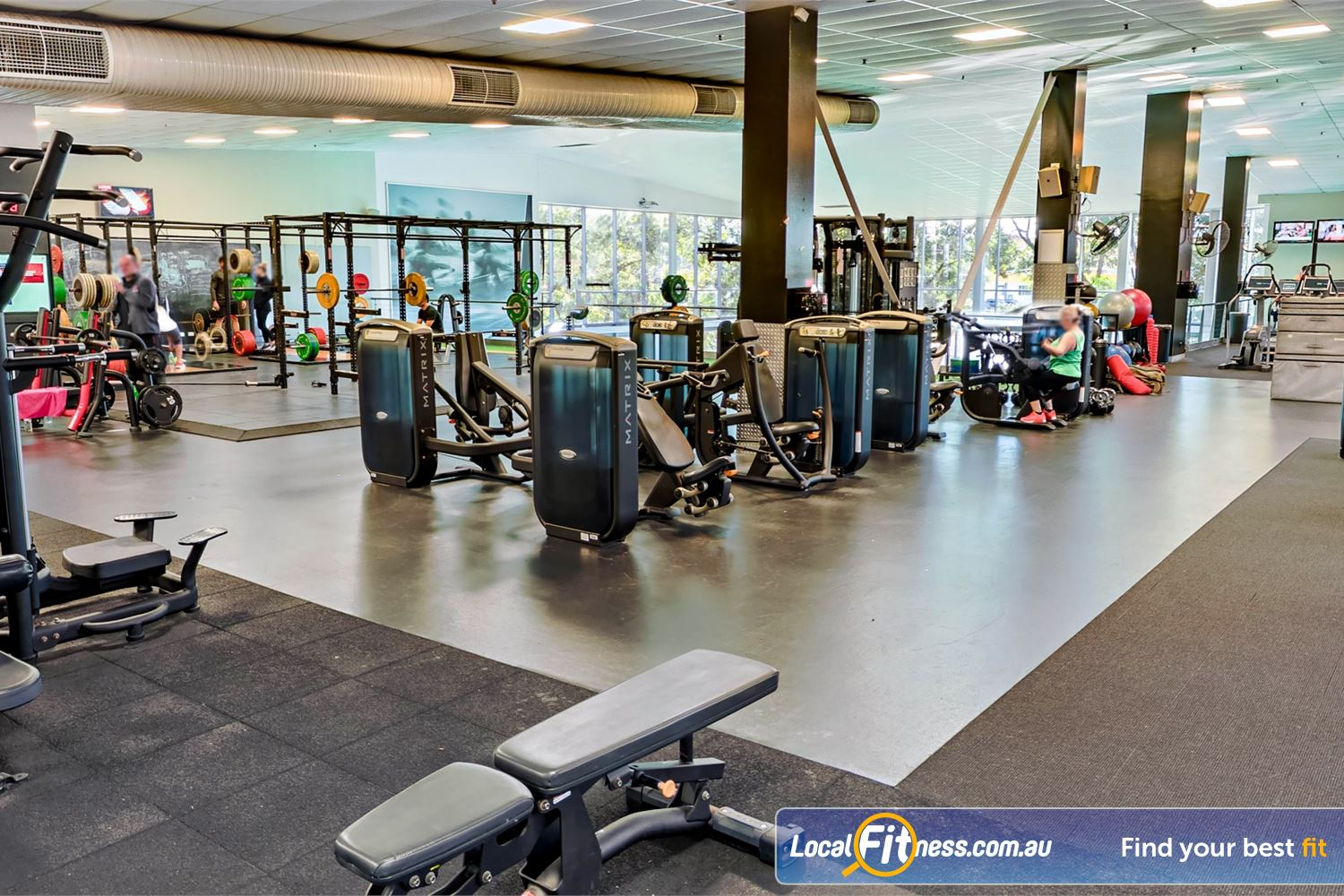 Fitness First Near Caravan Head Our Sylvania gym includes multiple strength training areas.