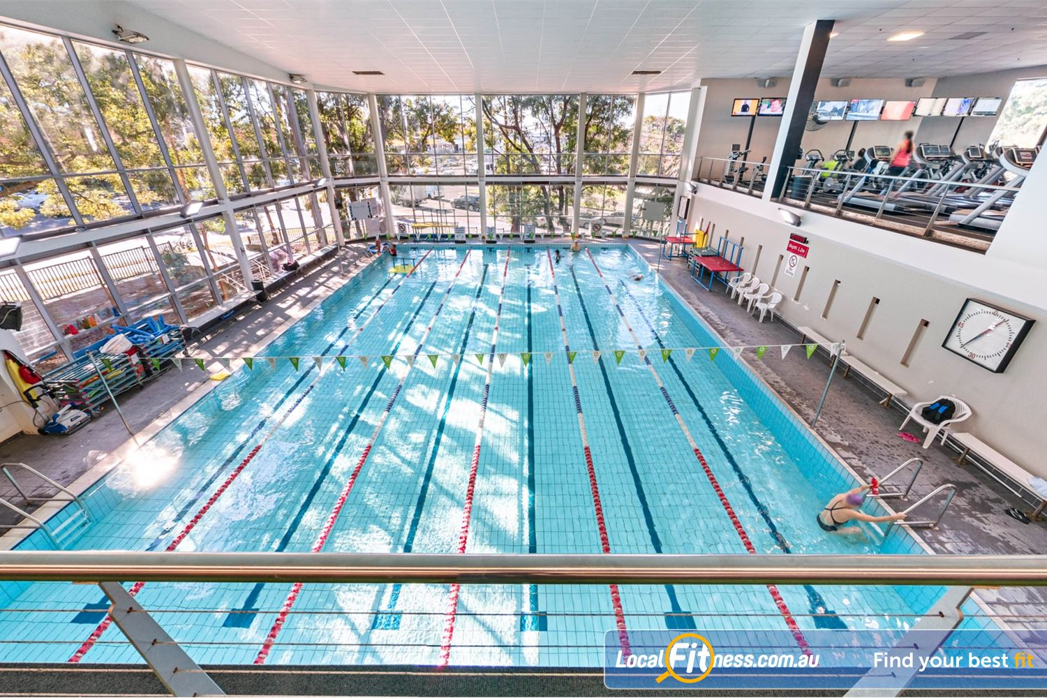 Fitness First Near Oyster Bay Our Sylvania swimming pool is great for lap swimming.