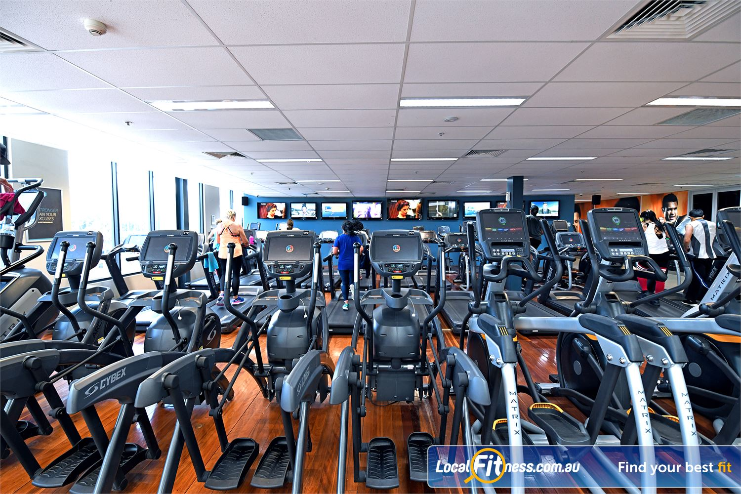 Goodlife Health Clubs Near Werribee South Rows and rows of cardio in our cardio area.