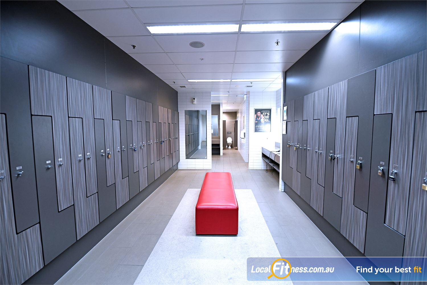 Goodlife Health Clubs Point Cook Clean and pristine change room facilities.