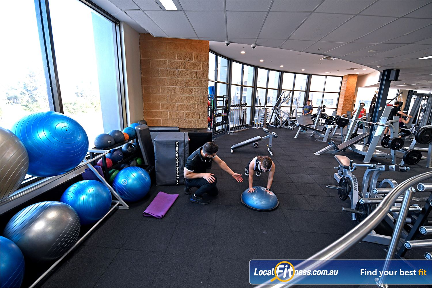 Goodlife Health Clubs Near Werribee Fully equipped stretching and abs zone.
