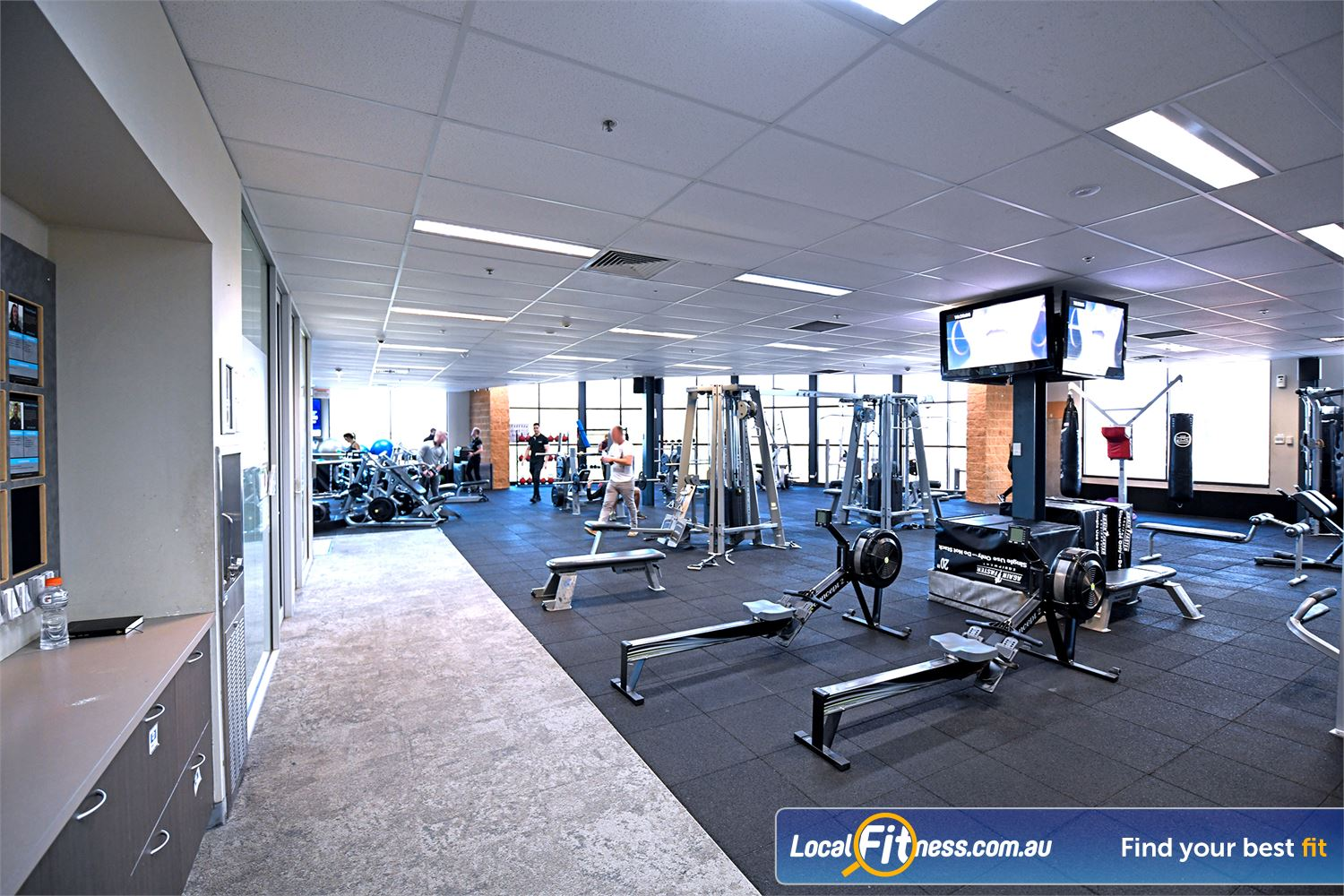 Goodlife Health Clubs Near Werribee South The spacious Goodlife Point Cook gym.